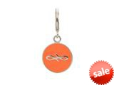 Endless Jewelry Coral Endless Coin Silver Coral Enamel Rhodium Silver Finish style: 433071