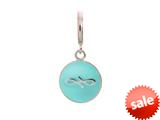 Endless Jewelry Light Blue Endless Coin Silver Light Blue Enamel Rhodium Silver Finish style: 433072