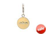 Endless Jewelry Cream Endless Coin Silver Cream Enamel Rhodium Silver Finish style: 433073