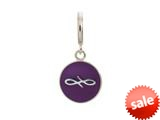 Endless Jewelry Violet Endless Coin Silver Violet Enamel Rhodium Silver Finish style: 433074