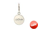 Endless Jewelry White Endless Coin Silver White Enamel Rhodium Silver Finish style: 433075