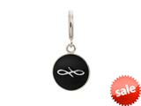 Endless Jewelry Black Endless Coin Silver Black Enamel Rhodium Silver Finish style: 433076