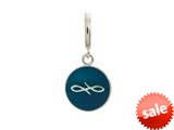 Endless Jewelry Navy Endless Coin Silver Navy Enamel Rhodium Silver Finish style: 433078