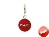Endless Jewelry Red Endless Coin Silver Red Enamel Rhodium Silver Finish style: 433079
