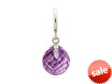 Endless Jewelry Amethyst Love Drop Silver Amethyst Crystal Rhodium Silver Finish style: 433524