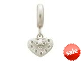 Endless Jewelry White Million Heart Drop Silver White Cubic Zirconia Rhodium Silver Finish style: 436001