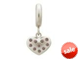 Endless Jewelry Smokey Million Heart Drop Silver Smokey Cubic Zirconia Rhodium Silver Finish style: 436002