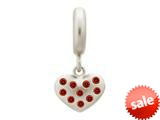 Endless Jewelry Garnet Million Heart Drop Silver Garnet Cubic Zirconia Rhodium Silver Finish style: 436004