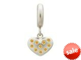 Endless Jewelry Citrine Million Heart Drop Silver Citrine Cubic Zirconia Rhodium Silver Finish style: 436005