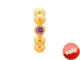 Endless Jewelry Amethyst Flashy Dot Amethyst Cubic Zirconia Gold-Tone Finish style: 512535