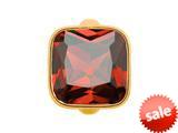 Endless Jewelry Big Garnet Cube Garnet Crystal Gold-Tone Finish style: 513022