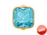 Endless Jewelry Big Sky Blue Cube Sky Blue Crystal Gold-Tone Finish style: 513023