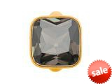 Endless Jewelry Big Smokey Cube Smokey Crystal Gold-Tone Finish style: 513025