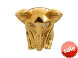 Endless Jewelry Elephant White Cubic Zirconia Gold-Tone Finish style: 51500
