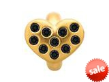 Endless Jewelry Black Heart Of Love Black Cubic Zirconia Gold-Tone Finish style: 515011