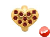 Endless Jewelry Garnet Heart Of Love Garnet Cubic Zirconia Gold-Tone Finish style: 515012