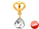 Endless Jewelry Clear Heart Grip Drop Clear Crystal Gold-Tone Finish style: 533021