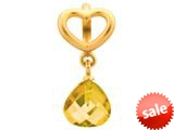Endless Jewelry Citrine Heart Grip Drop Citrine Crystal Gold-Tone Finish style: 533023