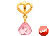 Endless Jewelry Rose Heart Grip Drop Rose Crystal Gold-Tone Finish style: 533024