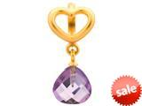 Endless Jewelry Amethyst Heart Grip Drop Amethyst Crystal Gold-Tone Finish style: 533025