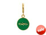Endless Jewelry Green Endless Coin Green Enamel Gold-Tone Finish style: 5334510