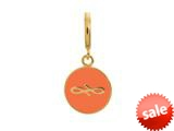 Endless Jewelry Coral Endless Coin Coral Enamel Gold-Tone Finish style: 533451