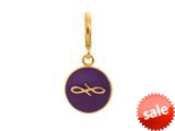 Endless Jewelry Violet Endless Coin Violet Enamel Gold-Tone Finish style: 533454