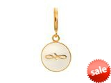 Endless Jewelry White Endless Coin White Enamel Gold-Tone Finish style: 533455