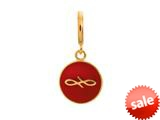 Endless Jewelry Red Endless Coin Red Enamel Gold-Tone Finish style: 533459