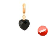 Endless Jewelry Black Heart Cut Drop Black Crystal Gold-Tone Finish style: 533512
