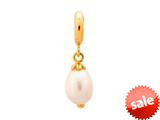 Endless Jewelry White Pearl Drop White Pearl Gold-Tone Finish style: 533521