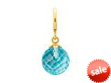 Endless Jewelry Sky Blue Love Drop Sky Blue Crystal Gold-Tone Finish style: 534512
