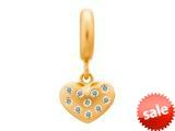 Endless Jewelry White Million Heart Drop White Cubic Zirconia Gold-Tone Finish style: 536502