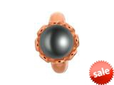 Endless Jewelry Black Pearl Flower Black Pearl Rose Gold-Tone Finish style: 612512