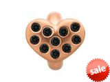 Endless Jewelry Black Heart Of Love Black Cubic Zirconia Rose Gold-Tone Finish style: 615011