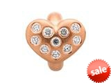 Endless Jewelry White Heart Of Love White Cubic Zirconia Rose Gold-Tone Finish style: 615012