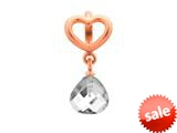 Endless Jewelry Clear Heart Grip Drop Clear Crystal Rose Gold-Tone Finish style: 633021