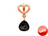 Endless Jewelry Black Heart Grip Drop Black Crystal Rose Gold-Tone Finish style: 633022