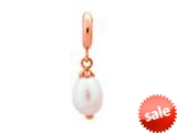 Endless Jewelry White Pearl Drop White Pearl Rose Gold-Tone Finish style: 633521