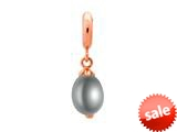 Endless Jewelry Grey Pearl Drop Grey Pearl Rose Gold-Tone Finish style: 633522