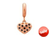 Endless Jewelry Black Million Heart Drop Black Cubic Zirconia Rose Gold-Tone Finish style: 636502
