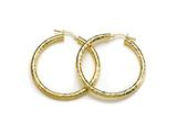 18K Yellow 925 Sterling Silver Sterling Silver Hoop Earrings style: 630022