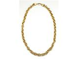18K Yellow Gold Plated Silver 18 inches Link Necklace style: 63068