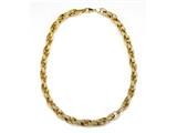 18K Yellow Gold Plated Silver Fancy Link Necklace style: 63070