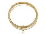 10 Piece Bangle Set in18K Yellow Gold Plated Silver style: 63071