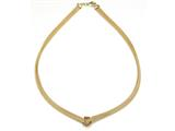 18K Yellow Gold Plated Silver Mesh Knot Necklace style: 63075