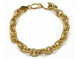 18K Yellow Gold Plated Silver Link Bracelet style: 63076