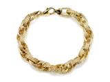 18K Yellow Gold Plated Silver Link Bracelet style: 63079