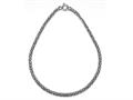 Sterling Silver18 inches Byzantina Necklace