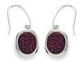 Purple Drusy Hanging Earrings